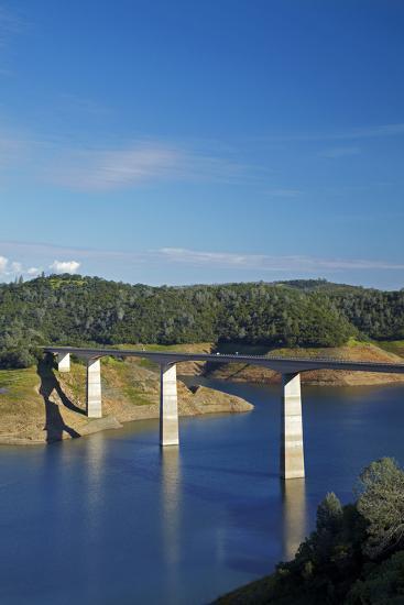 Archie Stevenot Bridge Carrys SR 49 across New Melones Dam, California-David Wall-Photographic Print