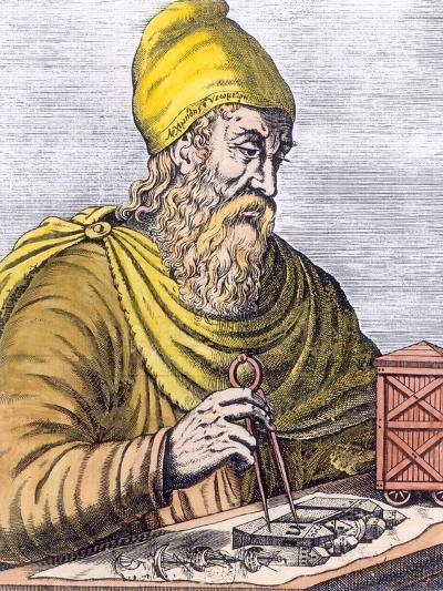 Archimedes (287-212 BC) (Later Colouration)--Giclee Print
