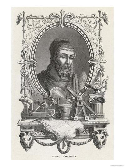 Archimedes Greek Mathematician and Inventor--Giclee Print