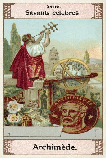 Archimedes, Greek Scientist, Mathematician and Inventor--Giclee Print