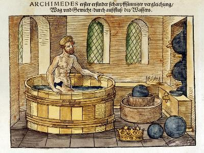 Archimedes in His Bath, 1547-Archimedes Archimedes-Giclee Print