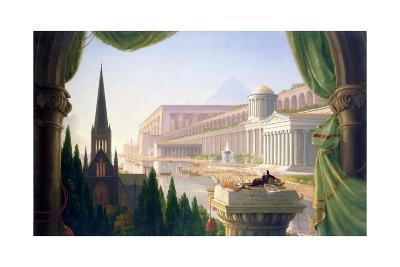 Architect's Dream-Thomas Cole-Giclee Print