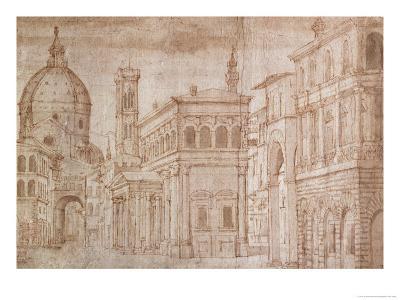 Architectural Capriccio-Baldassare Lanci-Giclee Print