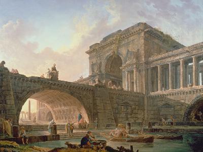 Architectural Capriccio-Hubert Robert-Giclee Print