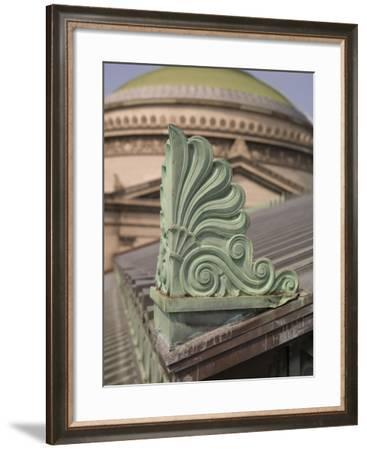 Architectural Detail Atop the Museum--Framed Photographic Print