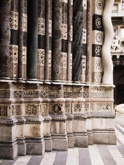 Architectural Detail from Columns of Facade of St Lawrence--Giclee Print