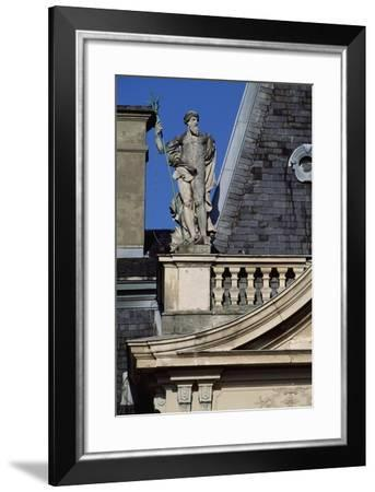 Architectural Detail from Inner Courtyard--Framed Giclee Print