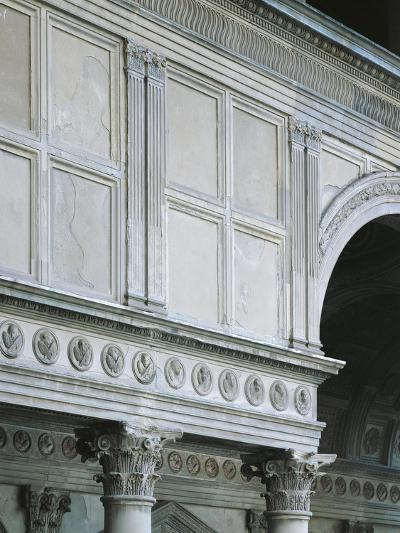 Architectural Detail from Pazzi Chapel, Architect Filippo Brunelleschi--Giclee Print