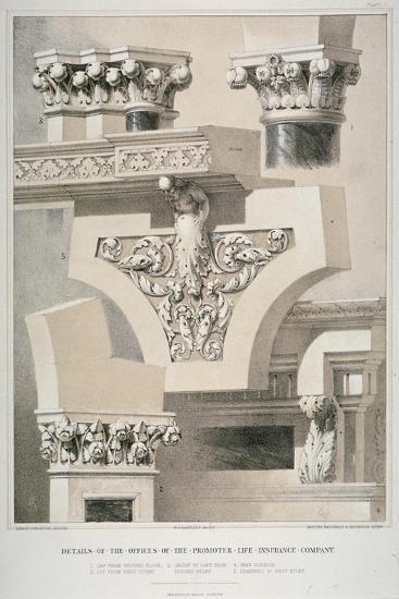 Architectural Details, Fleet Street, City of London, 1861-Robert Dudley-Giclee Print