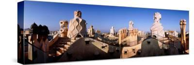 Architectural Details of Rooftop Chimneys, La Pedrera, Barcelona, Catalonia, Spain