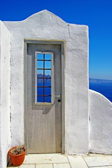 Architectural Details of Santorini - Traditional Cycladic Style-Maugli-l-Photographic Print