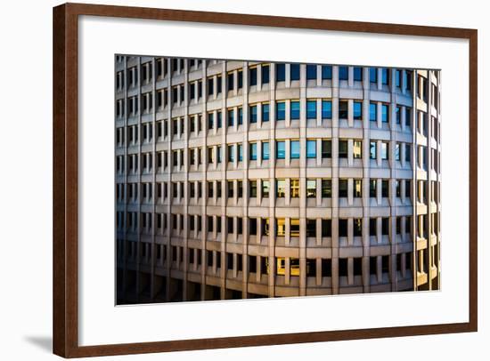 Architectural Details of the Brandywine Building Taken in Downtown Wilmington, Delaware.-Jon Bilous-Framed Photographic Print