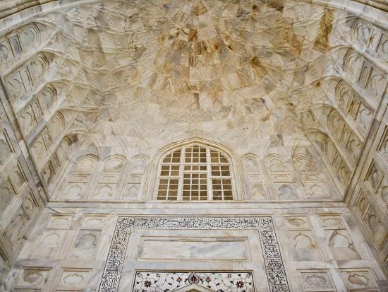 Architectural details, Taj Mahal, Agra, India-Adam Jones-Photographic Print