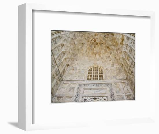 Architectural details, Taj Mahal, Agra, India-Adam Jones-Framed Photographic Print