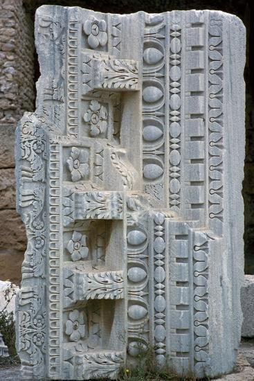 Architectural fragment from the baths of Antoninus Pius, 2nd century-Unknown-Giclee Print