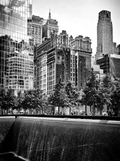 Architecture and Buildings, 9/11 Memorial, 1Wtc, Manhattan, NYC, USA, Black and White Photography-Philippe Hugonnard-Photographic Print