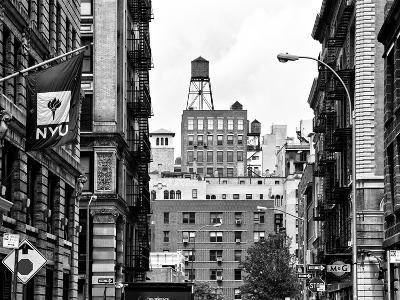 Architecture and Buildings, Greenwich Village, Nyu Flag, Manhattan, NYC-Philippe Hugonnard-Photographic Print