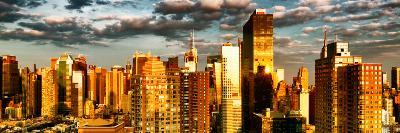 Architecture and Buildings, Sunset, Midtown of Manhattan, Times Square and 42 Street, New York-Philippe Hugonnard-Photographic Print