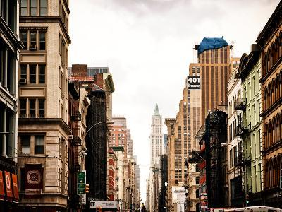 Architecture and Buildings, Urban Scene, 401 Broadway, Lower Manhattan, New York City, Vintage-Philippe Hugonnard-Photographic Print