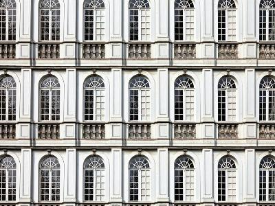 Architecture and Windows of Ancient Renaissance Style Classical Building-Protasov AN-Photographic Print