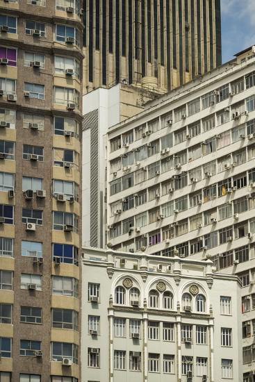 Architecture in Central Rio De Janeiro, Brazil, South America-Ben Pipe-Photographic Print
