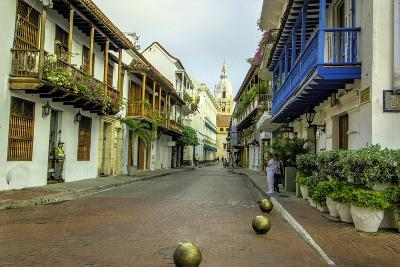 Architecture in the Plaza de San Pedro Claver, Cartagena, Colombia-Jerry Ginsberg-Photographic Print