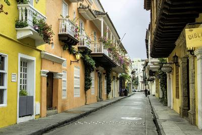 Architecture in the San Diego Section, Cartagena, Colombia-Jerry Ginsberg-Photographic Print