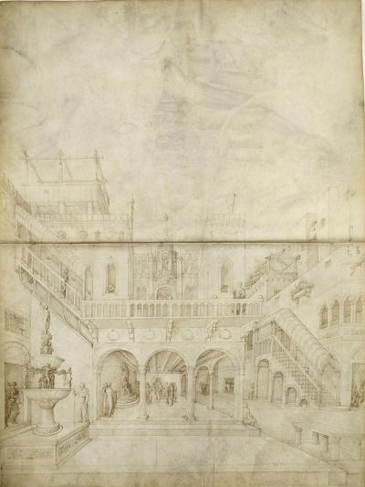 Architecture ; Jugement de Salomon-Jacopo Bellini-Giclee Print