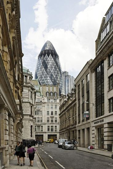 Architecture Mix, Modern and Classical Architecture, Lloyd's Avenue-Axel Schmies-Photographic Print