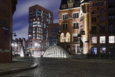 Architecture Old and Modern, Arabica House in the †berseequartier, Speicherstadt-Axel Schmies-Photographic Print