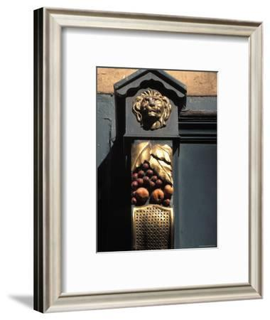Architetural Detail of a Lion from the Front of a Store on Grafton Street in Dublin, Ireland-Richard Nowitz-Framed Photographic Print