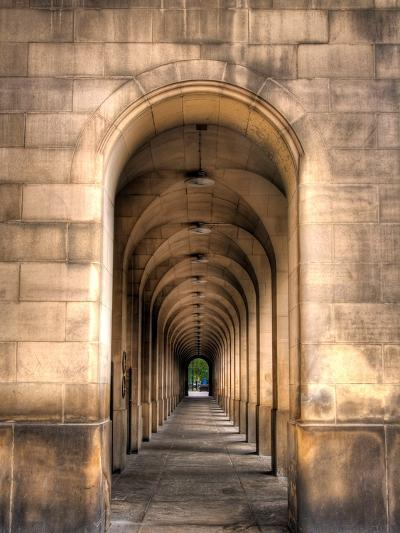 Archway through Manchester, England-Robin Whalley-Art Print
