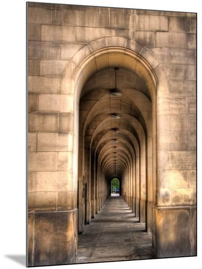 Archway through Manchester, England-Robin Whalley-Mounted Print