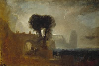 Archway with Trees by the Sea; Sketch for 'The Parting of Hero and Leander'-J^ M^ W^ Turner-Giclee Print