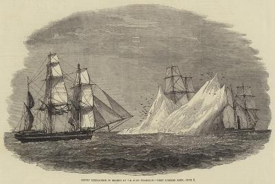 Arctic Expedition in Search of Sir John Franklin, First Iceberg Seen, 3 June--Giclee Print