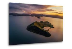 Aerial of a Small Island Named Sandey in Thingvallavatn or Lake Thingvellir, Iceland by Arctic-Images