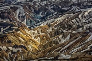 Aerial View of Landmannalaugar, Central Highlands, Iceland by Arctic-Images