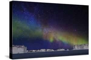 Aurora Borealis or Northern Lights over Icebergs by Arctic-Images