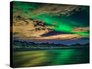 Aurora Borealis over Lake Kleifarvatn, Iceland by Arctic-Images
