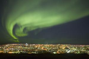 Aurora Borealis over Reykjavik by Arctic-Images