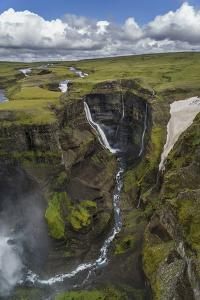 Haifoss Waterfalls, Thjorsardalur Valley, Iceland by Arctic-Images