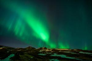 Northern Lights or Aurora Borealis over Mt. Ulfarsfell, Close to Reykjavik, Iceland by Arctic-Images