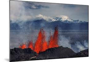 Volcano Eruption at the Holuhraun Fissure near Bardarbunga Volcano, Iceland by Arctic-Images