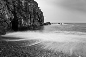 Waves Breaking on Black Sand Beach by Arctic-Images