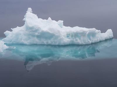 Arctic Ocean, Norway, Svalbard. Iceberg Reflects in Ocean-Jaynes Gallery-Photographic Print