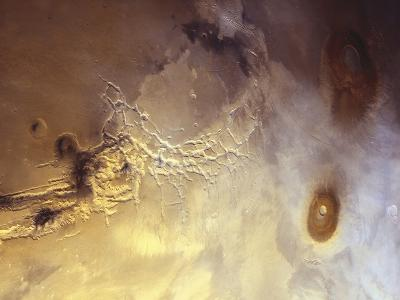 Arcuate Graben System of Noctis Labyrinthus on Mars-Michael Benson-Photographic Print