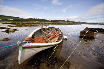 Ardminish, Isle of Gigha, Scotland; Rowboats Tied to Shore-Design Pics Inc-Photographic Print