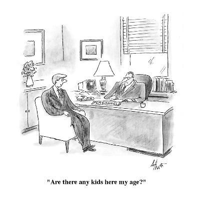 """""""Are there any kids here my age?"""" - Cartoon-Frank Cotham-Premium Giclee Print"""