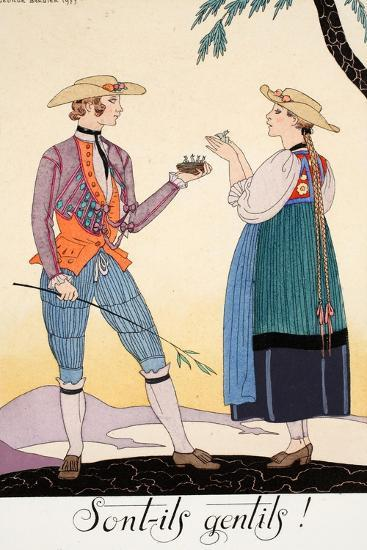 Are They Nice!-Georges Barbier-Giclee Print