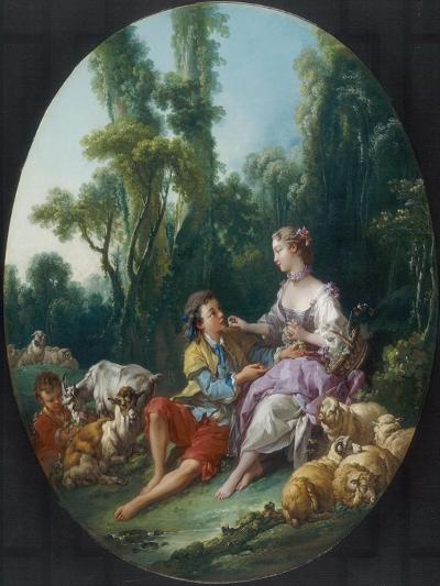 Are They Thinking About the Grape?, 1747-Francois Boucher-Giclee Print